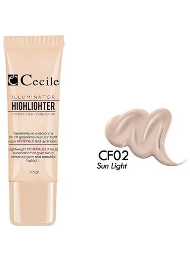 Cecile Güneş Işığı Göz Altı Kapatıcısı Ve Fondöten Cf02 Renksiz